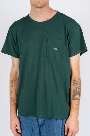 SECOND LAYER CAP SLEEVE TSHIRT DARK GREEN - BLENDS