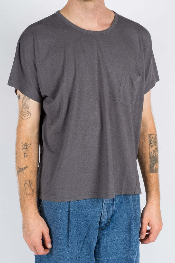 SECOND LAYER CAP SLEEVE TSHIRT MELANAGE GREY