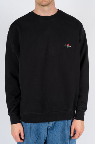 SECOND LAYER ESSENTIAL ROSE PULLOVER CREW BLACK - BLENDS
