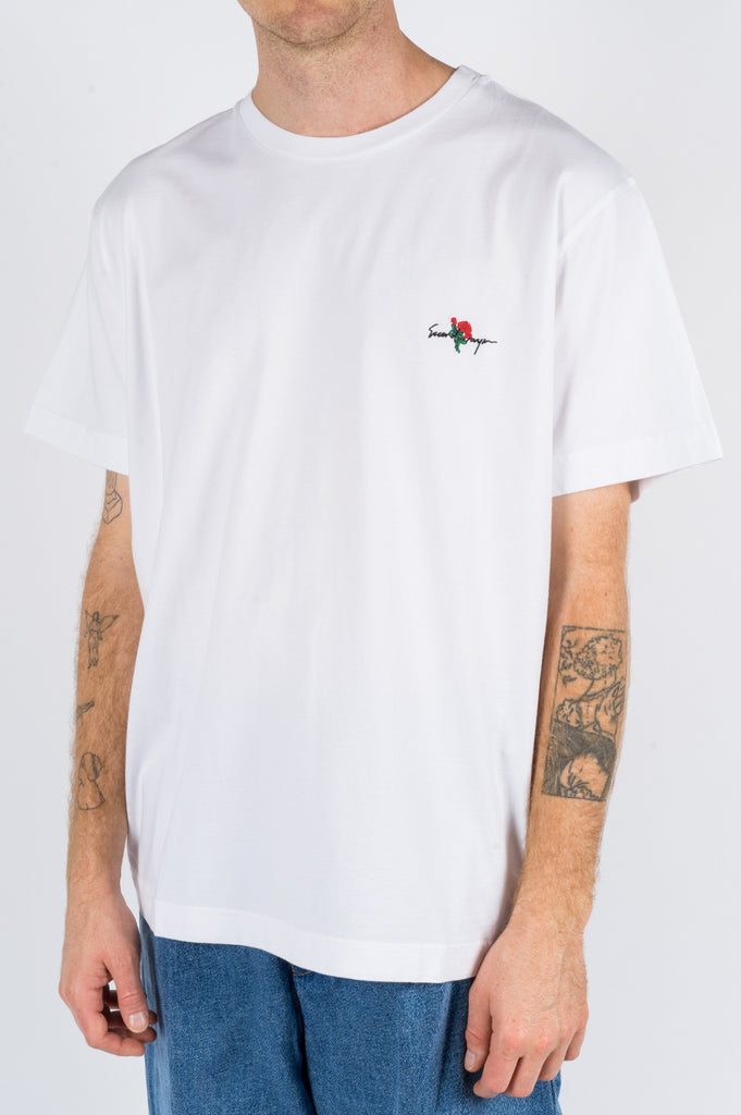 SECOND LAYER ESSENTIAL ROSE LOGO TSHIRT WHITE - BLENDS