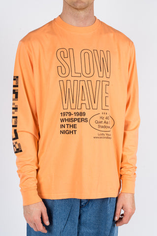 SECOND LAYER SPIRAL LS TSHIRT CADIUM ORANGE - BLENDS