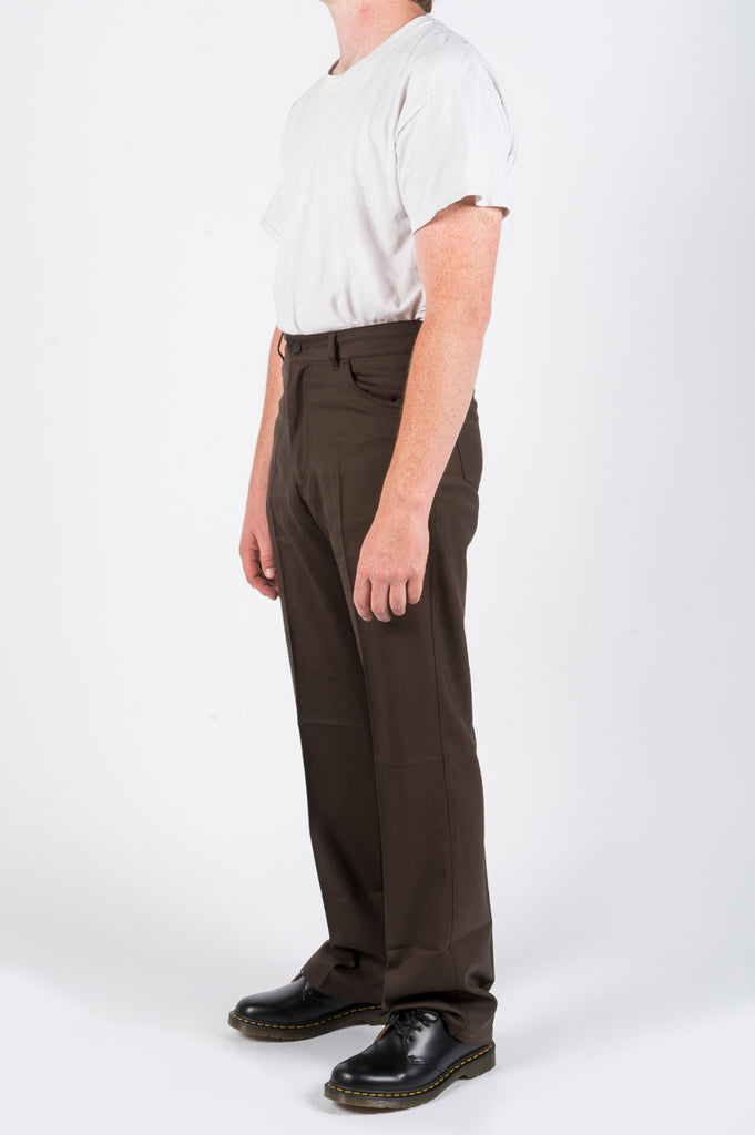 SECOND LAYER BOOT CUT VINTAGE PANT BROWN