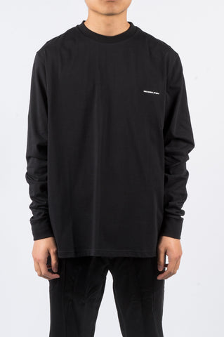 SECOND LAYER BAD HABBITS LS TSHIRT BLACK - BLENDS