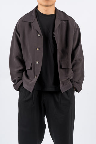 SECOND LAYER CALO SHIRT/JACKET ASH - BLENDS