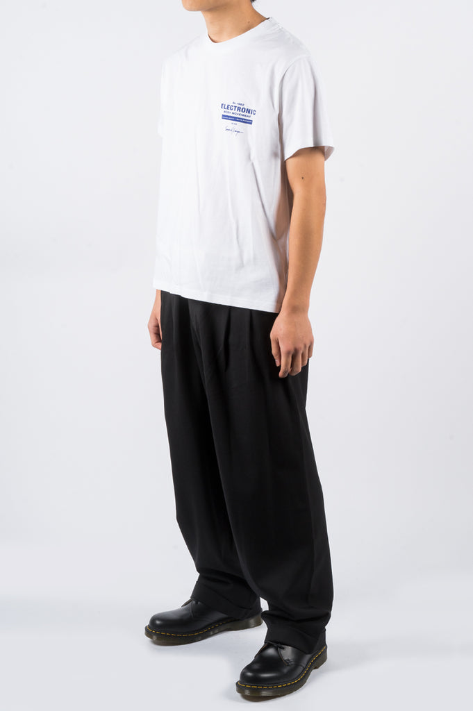 SECOND LAYER EMB LOCK UP SS TSHIRT WHITE - BLENDS