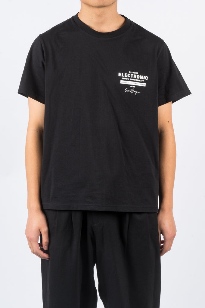 SECOND LAYER EMB LOCK UP SS TSHIRT BLACK - BLENDS