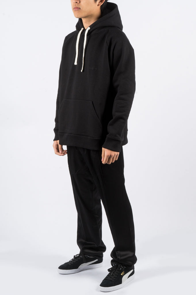 SECOND LAYER CLASSIC RAGLAN HOODIE BLACK - BLENDS