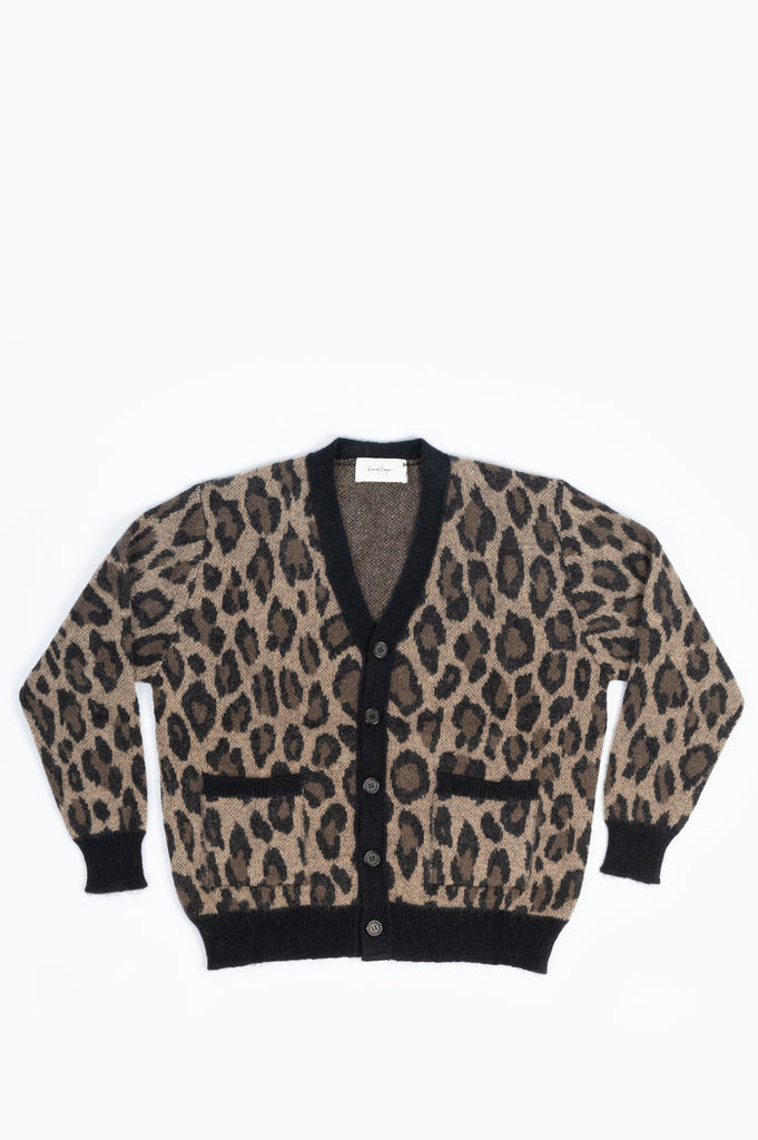 SECOND LAYER ROCKER CARDIGAN LEOPARD