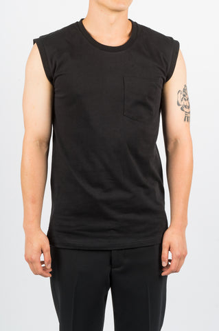 SECOND LAYER FIRME SLEEVELESS TEE BLACK