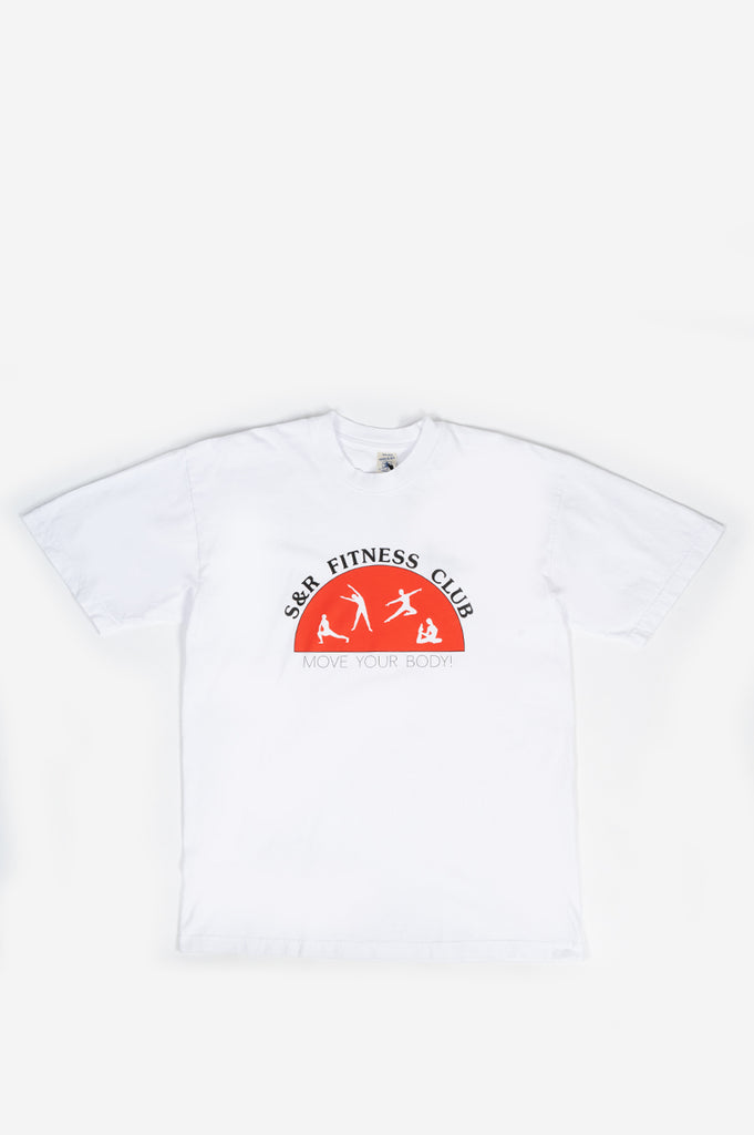 SPORTY AND RICH FITNESS CLUB T-SHIRT WHITE RED