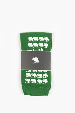 STRAY RATS RAT WONKY FALL PREVENTION SOCKS GREEN