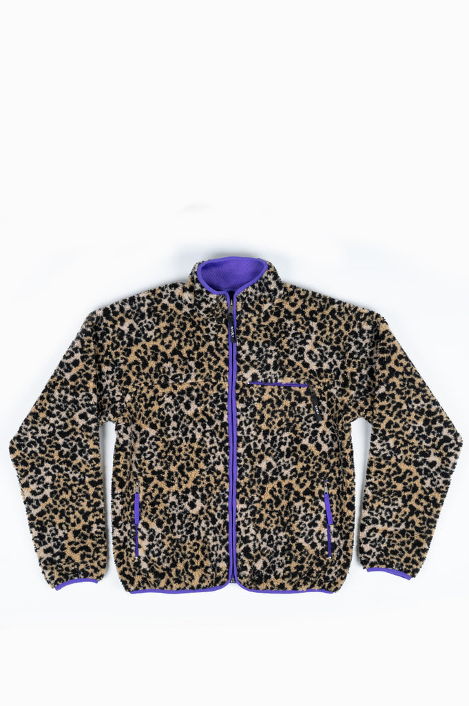 STRAY RATS LEOPARD FLEECE JACKET