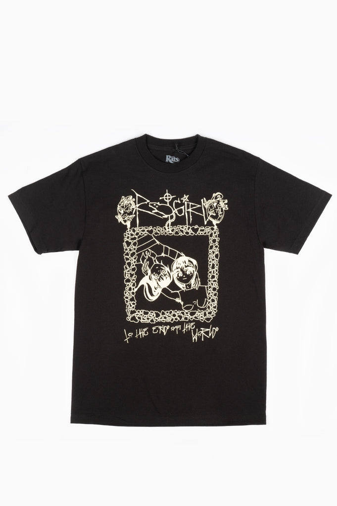 STRAY RATS TO THE END TEE BLACK