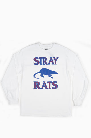 STRAY RATS RODENTICIDE L/S TEE WHITE
