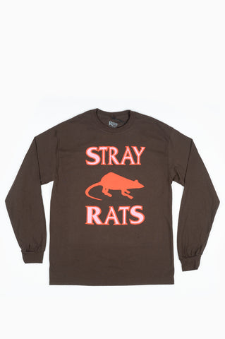 STRAY RATS RODENTICIDE L/S TEE BROWN