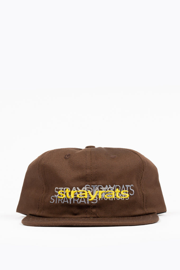 STRAY RATS REPEAT LOGO SNAPBACK HAT BROWN