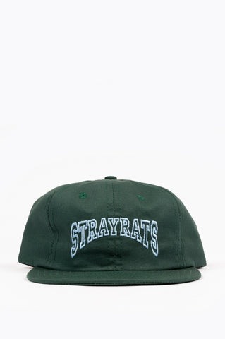 STRAY RATS COLLEGE ARCH SNAPBACK HAT GREEN