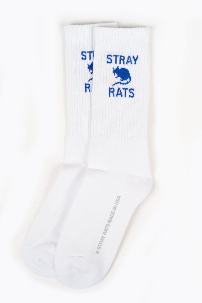 STRAY RATS RAT SOCK WHITE BLUE