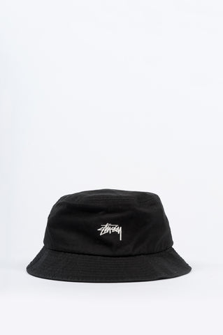 STUSSY STOCK BUCKET HAT BLACK - BLENDS