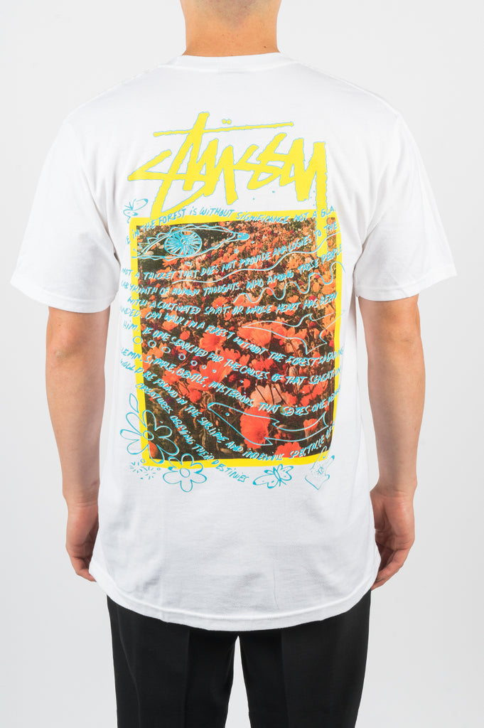 STUSSY SUPER BLOOM TEE WHITE