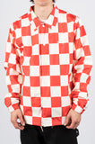 STUSSY COACH JACKET CHECKERBOARD RED