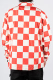 STUSSY COACH JACKET CHECKERBOARD RED - BLENDS