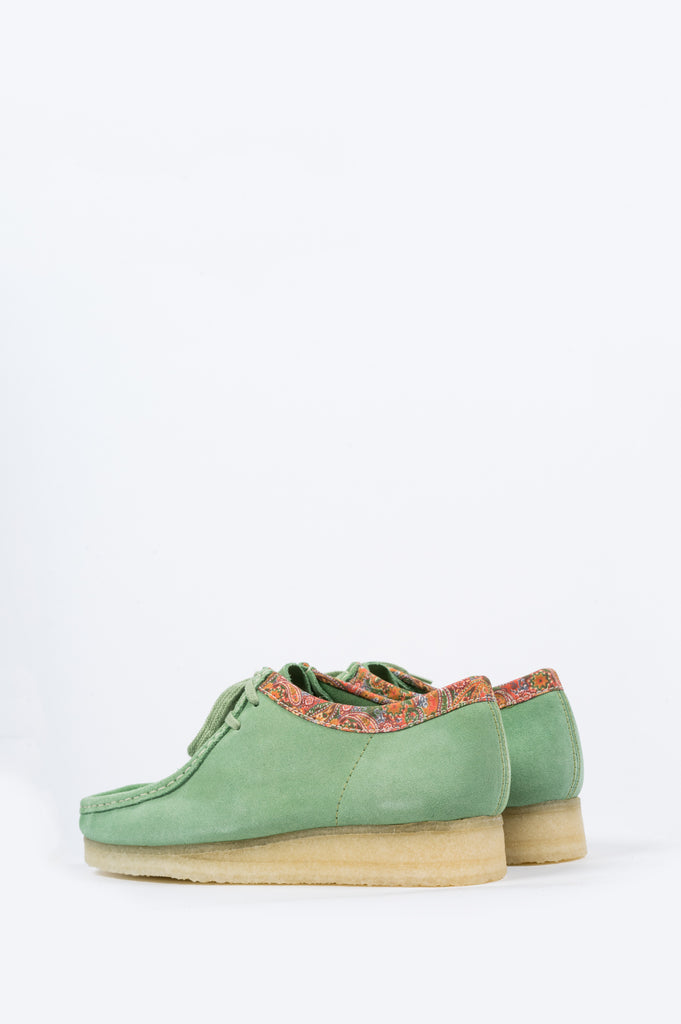 CLARKS X STUSSY WALLABEE GREEN - BLENDS