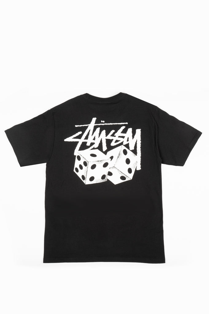 STUSSY PAIR OF DICE TEE BLACK