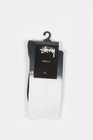 STUSSY DIP DYE EVERYDAY SOCKS BLACK