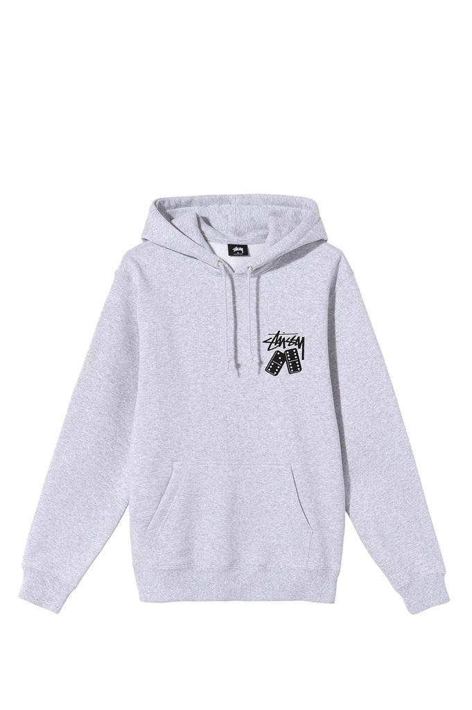 STUSSY DOMINOES HOODIE ASH HEATHER