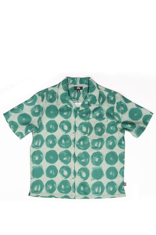STUSSY HAND DRAWN DOT SHIRT GREEN