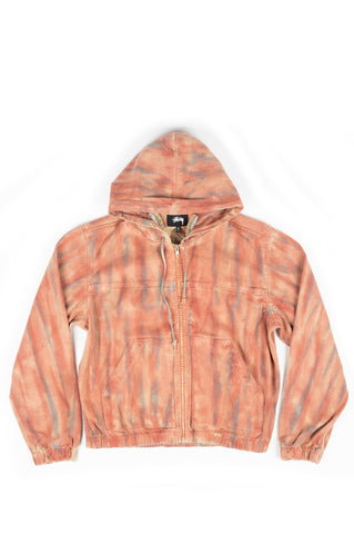 STUSSY DYED WORK JACKET RUST