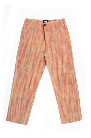 STUSSY DYED UNIFORM PANT RUST