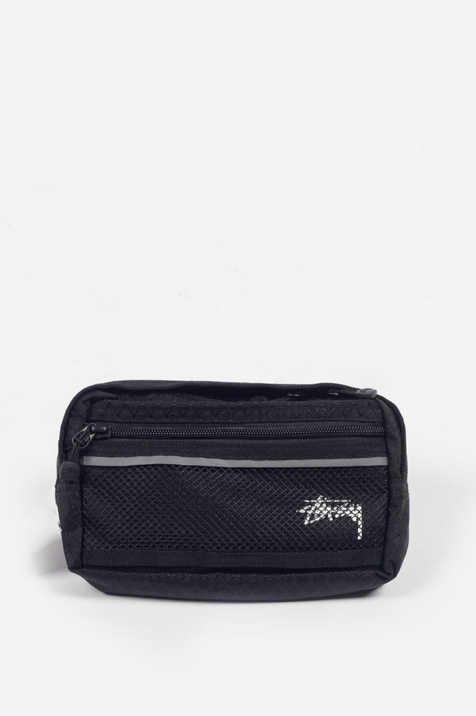 STUSSY DIAMOND RIPSTOP WAIST BAG BLACK