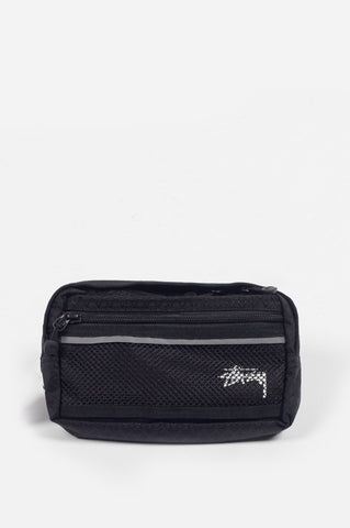 STUSSY DIAMOND RIPSTOP WAIST BAG BLACK - BLENDS