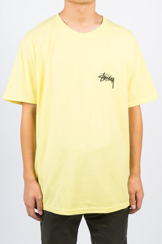 STUSSY CARP STOCK TEE LEMON - BLENDS