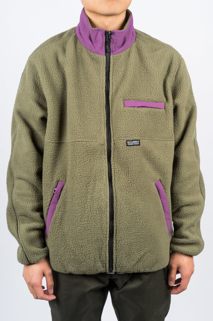 STUSSY NYLON MOCK NECK OLIVE - BLENDS