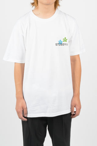 STUSSY CITY FLOWERS TEE WHITE
