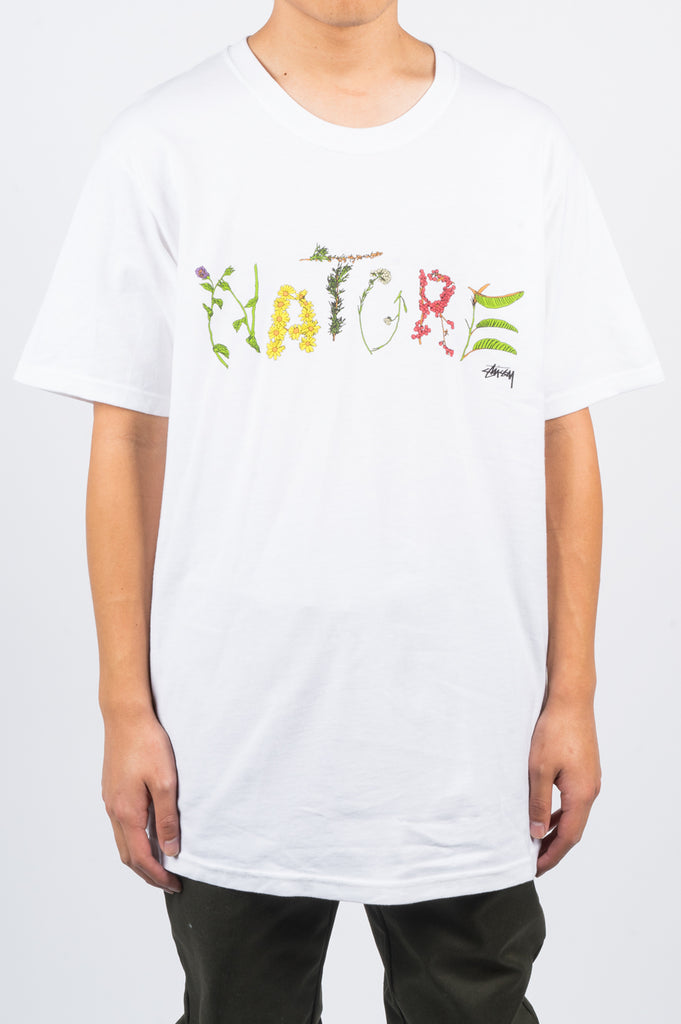 STUSSY NATURE TEE WHITE - BLENDS