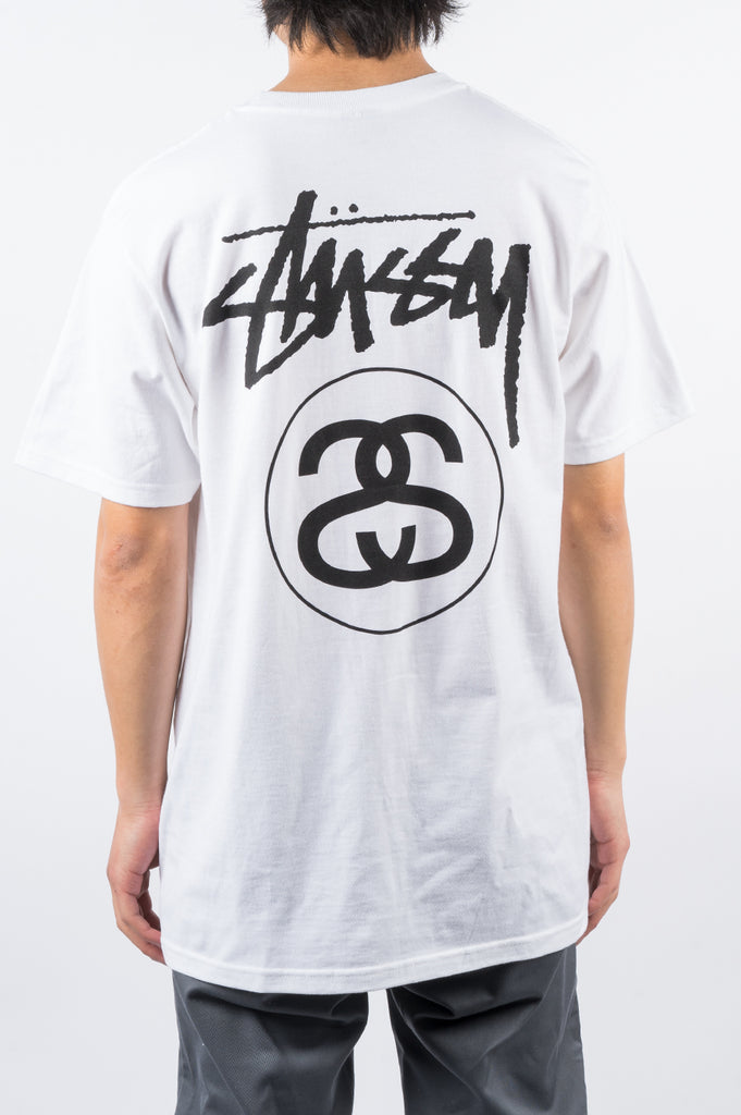 STUSSY STOCK LINK TEE WHITE - BLENDS