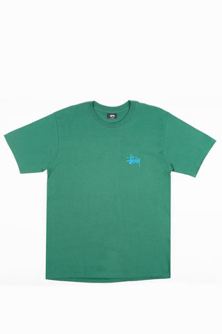 STUSSY BASIC TEE DARK GREEN