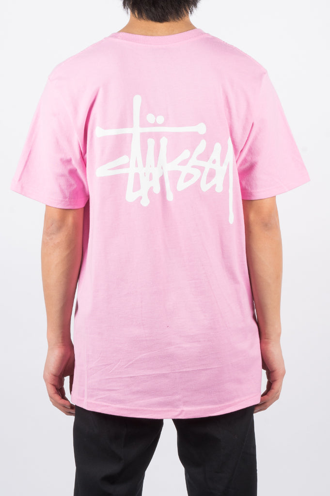 STUSSY BASIC TEE PINK - BLENDS