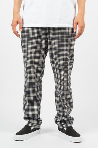 STUSSY PLAID BRYAN PANT NAVY