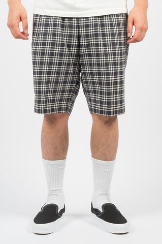 STUSSY PLAID BRYAN SHORT NAVY