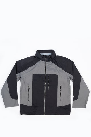 STUSSY TAPED SEAM RAIN SHELL BLACK