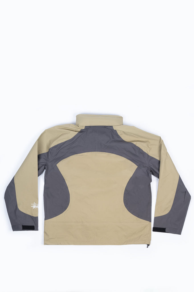 STUSSY TAPED SEAM RAIN SHELL MOSS