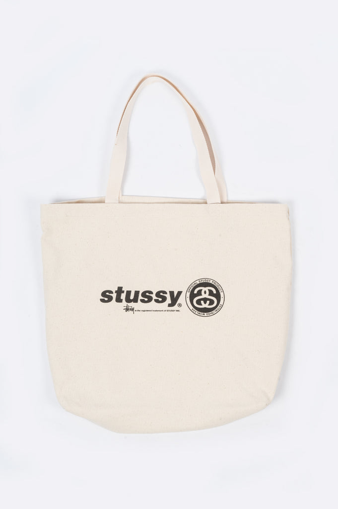 STUSSY ITALIC LINK CANVAS TOTE BAG - BLENDS