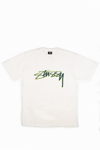 STUSSY SMOOTH STOCK DYED TEE NATURAL