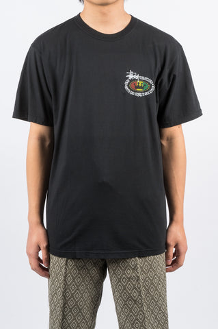 STUSSY RASTA OVAL TEE BLACK - BLENDS