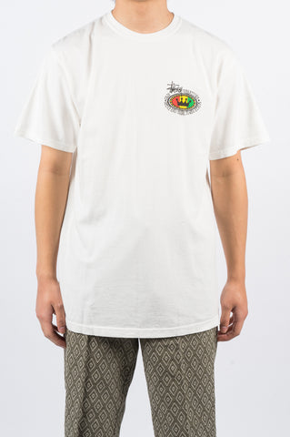 STUSSY RASTA OVAL TEE NATURAL - BLENDS